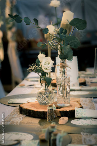 Obraz vintage table setting wedding decoration - fototapety do salonu