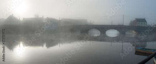 Photo Foggy Sunrise at Graigue Bridge on the Barrow near Carlow Town Centre