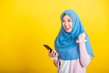 Asian Muslim Arab, Portrait Of...