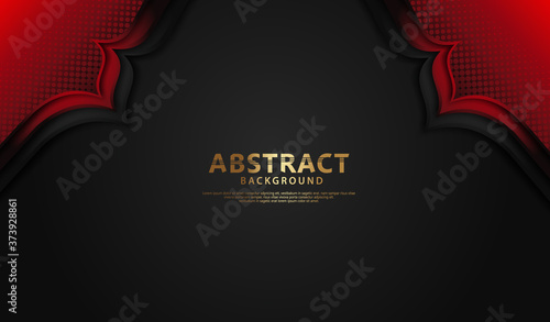 Luxury overlap layers background with lines effect Fototapet