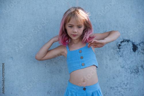 Photo cute child girl portrait