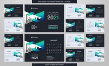 Desk Calendar 2021 Template - ...