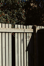 Wooden Fence In The Garden