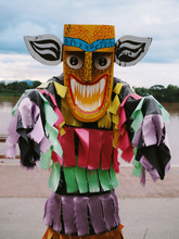 Ghost Mask Colorful Thai Festival - Phi Ta Khon, Thailand Traditional At At Loei Province Thailand
