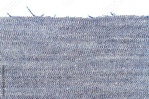 Piece of blue jeans fabric Canvas
