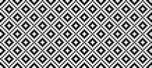 Black Tribal Ethnic Aztec Style. Diamond Pattern. Retro Argyle Pattern Checkered Texture From Rhombus, Squares Flat Tartan Checker Print. Vector Gingham And Bluffalo Check Line. Christmas, Xmass