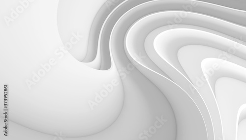 Abstract Concept Background. White Wave Texture