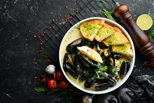 Boiled Mussels In Cream Sauce ...