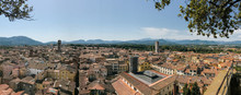 View From The Guinigi Tower In Lucca, Tuscany, Italy