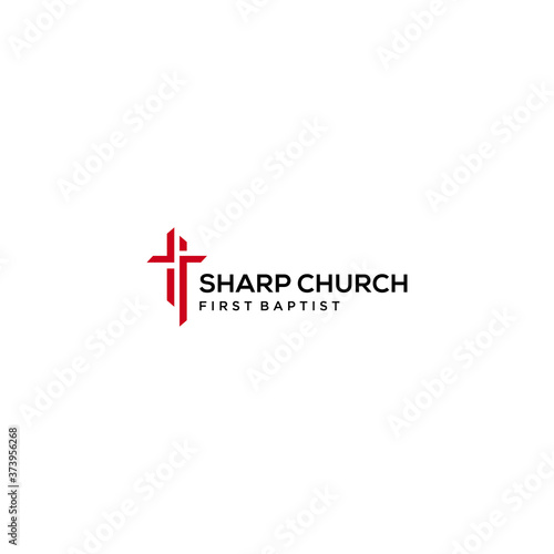 Vászonkép Modern church religion logo sign modern vector graphic abstract