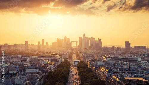 Fototapety, obrazy: Paris view from Arc de Trimphe, France