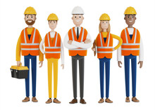 Industrial Workers. A Team Of ...