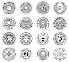 Witchcraft Circular Symbols. M...