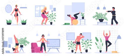 Fotografie, Obraz Fitness at home