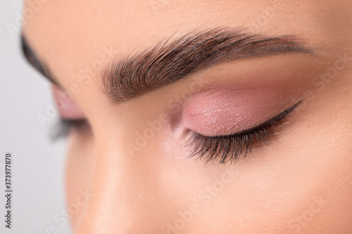 Canvas Print Eyes and eyebrows close up
