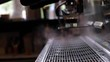 espresso machine steam slow motion