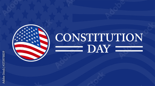 Photo Constitution Day Background Illustration