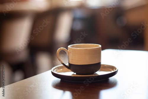cup of coffee in the cafe Fototapeta