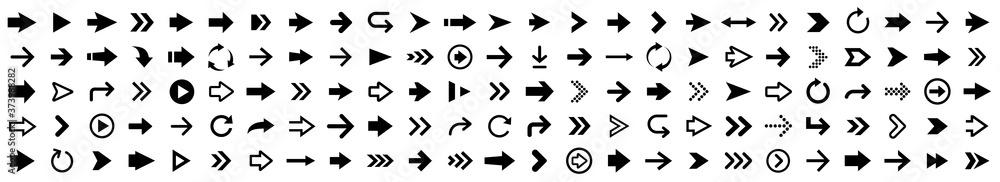 Fototapeta Arrow icon set. Arrow collection. Simple arrows big set. Vector