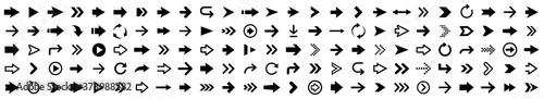 Photo Arrow icon set. Arrow collection. Simple arrows big set. Vector