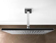 Ceiling Metal Shower In Apartment Bathroom