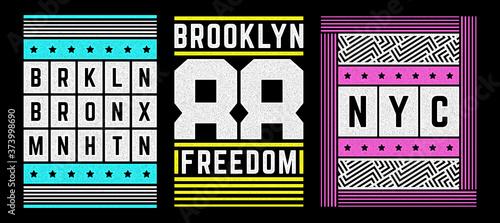 Vector retro illustration on the theme of Brooklyn Fototapete