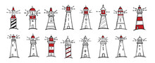 Lighthouse. Flat Design, Vecto...