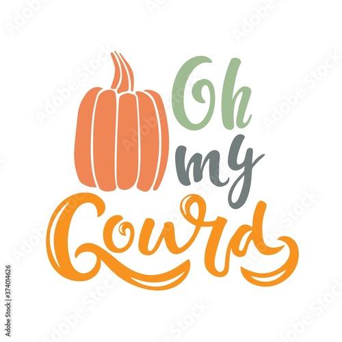 Obraz na plátně Oh my Gourd pumpkin sketch