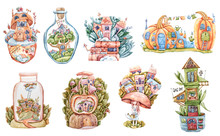 Watercolor Fantasy Fairy Tale ...