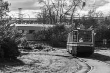 Vintage Soviet Tram Goes To The Depot