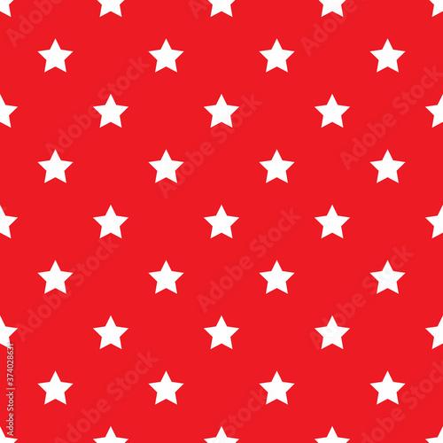 Tapeta czerwona  seamless-white-stars-on-red-background