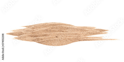 Carta da parati Sand pile texture isolated on white background with clipping path