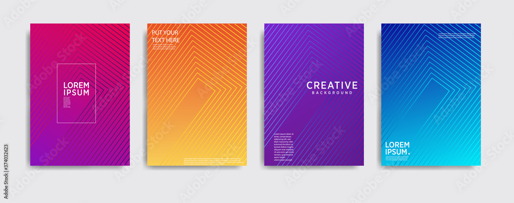Fototapeta Minimal covers design. Colorful halftone gradients.background modern template design for web. Cool gradients. cool background, Future geometric patterns. Eps10