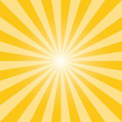 Yellow sunburst recto background template. Light yellow rectangular backdrop design. Tuscany yellow sunbeam background design for various purposes.