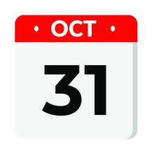 31 October Calendar Icon