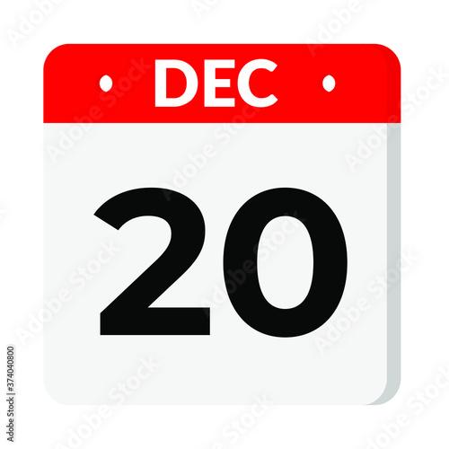 Photo 20 December calendar icon