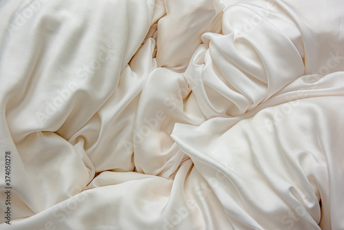 Fotografie, Obraz Beautiful bedding on a large bed in the bedroom