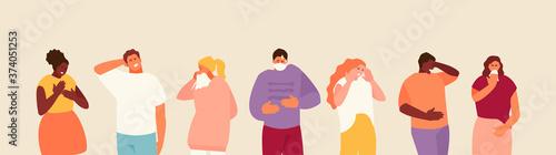 Fotografia, Obraz People with different symptoms