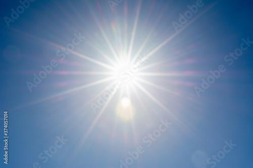 青空と太陽光線 Canvas