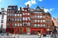 Rennes, France - Façades Trad...