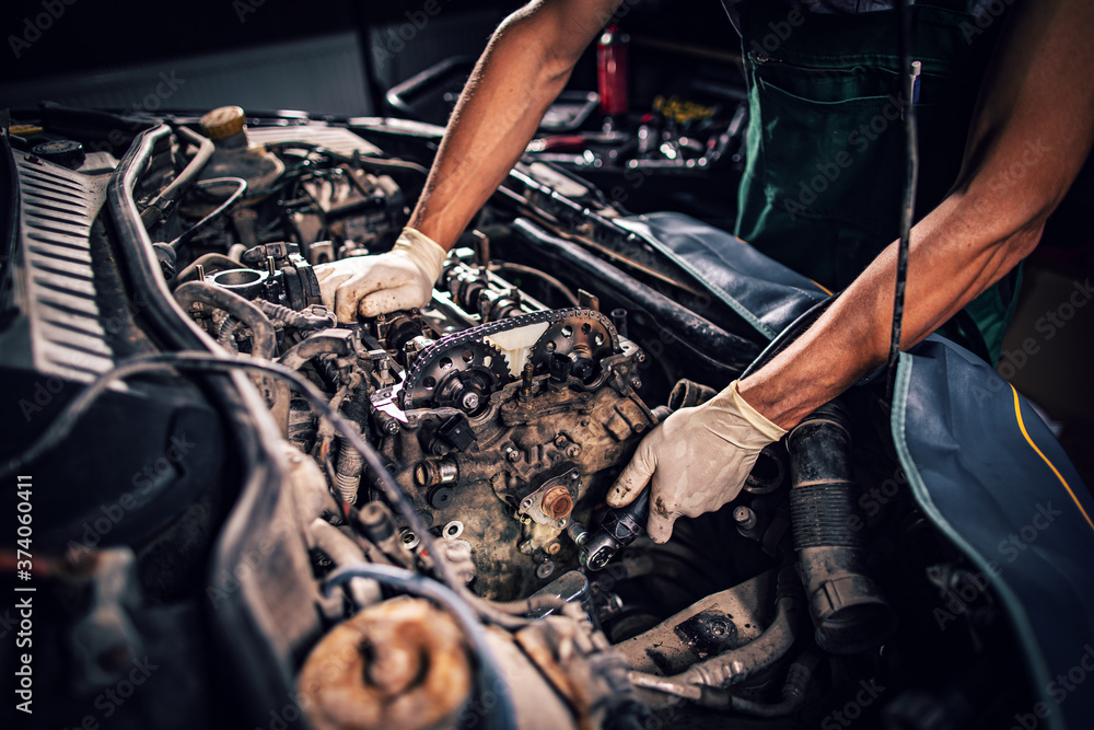 Fototapeta Repair service composition
