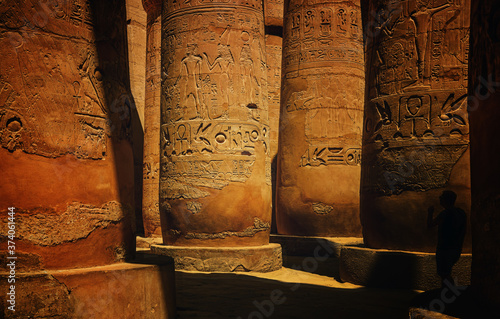 Photographie Great Hypostyle Hall at the Temples of Luxor (ancient Thebes)