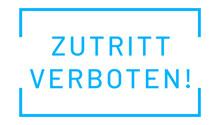 Zutritt Verboten Web Sticker B...