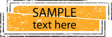 Title Box With Place For Text . Grunge Banner . Vector Design .