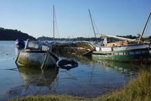 Boat Cemetery In The Harbor In...