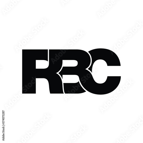Fotografía RBC letter monogram logo design vector
