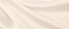 Smooth Elegant Golden Silk Or Satin Luxury Cloth Texture As Wedding Background. Luxurious Background Design. In Sepia Toned. Retro Style