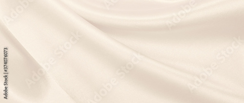 Smooth elegant golden silk or satin luxury cloth texture as wedding background Canvas Print