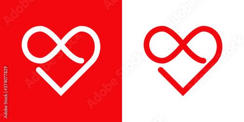 Símbolo de amor eterno Fotobehang