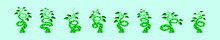 Set Of Beanstalk Cartoon Icon ...